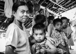 Rakhine Village Family